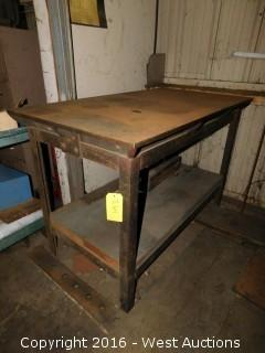"30""x54"" Steel Table"