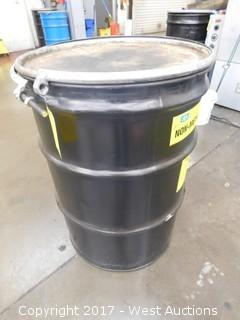 Waste Bin with Used Oil and Gas Filters
