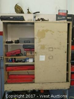 Tool Cabinet with Mechanics Tools