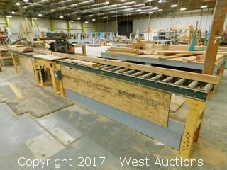 Rockwell Delta Radial Arm Saw with 20' Rolling Table