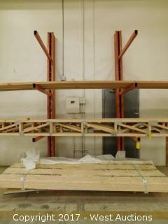 (2) Metal Cantilever Racks (racks only)