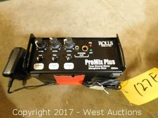 Rolls ProMix Plus 3-Channel Microphone Mixer
