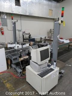(2) Label-Aire Inc. Label Conveyor Line With Computer