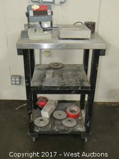Ohrus 3000 Series Scale with Cart