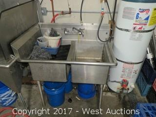 Stainless Steel 2-Bay sink