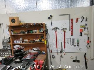Workbench with Hand Tools