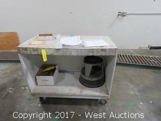Rolling Cart with Step Stool
