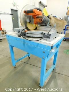 Ridgid 12' Miter Saw on a Rolling Table