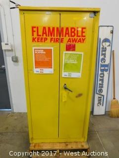 Flammable Safety Cabinet with Contents