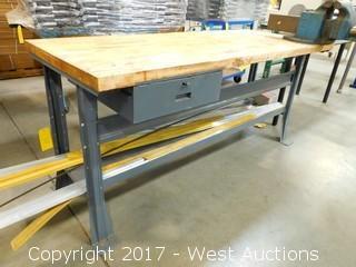 Wood Top Metal Table