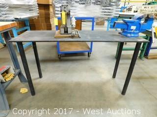 "Steel Table 54"" x 18"""