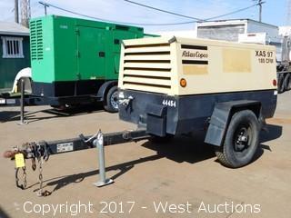 Atlas Copco XAS97 Trailer Mounted Diesel Air Compressor