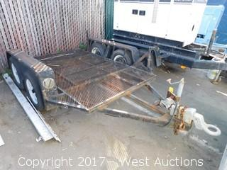 1995 Dual Axle Flatbed Trailer 5x8'