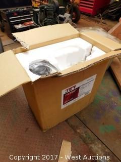 JET J-4002 1x42 Bench Belt and Disc Sander in Packaging