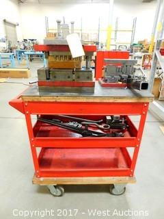 Utility Cart With Punch Press Dies and Tooling