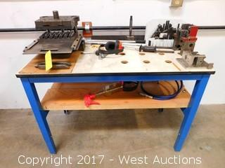 Punch Press Dies and Tooling with Custom Wood Top Table