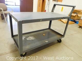Metal Rolling Warehouse Cart