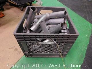 Crate of Stage Draping Pole Junctions