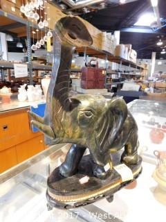 "Solid Jade Elephant 12""x12"""