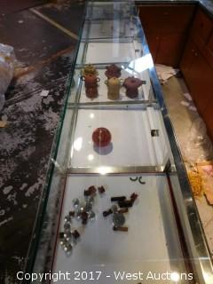 Contents in Glass Counter - Stone Carved / Ceramic Tea Pots and More