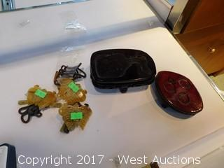 Contents in Glass Display / Carved Jade and More