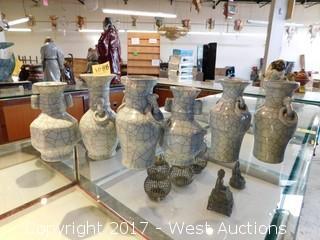"""(6) Crackled Porcelain Vases 6""""-7"""""""