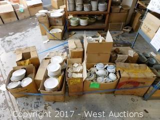 Bulk Lot - (12) Boxes of Porcelain Dinnerware