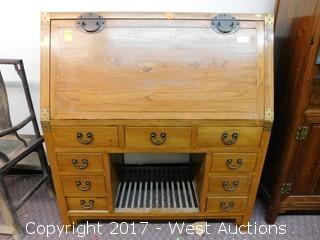 "51""x45"" Secretary Style Desk"