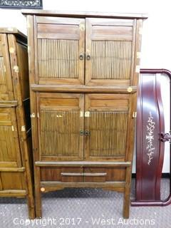 "Hutch with Bamboo Decor Doors - 73""x35"""