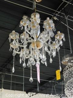 Crystal Hanging Candelabra Chandelier