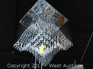 Crystal Teardrop Chandelier Approx. 2.5' W