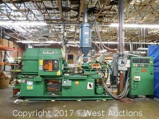 Van Dorn 150-Ton Plastic Injection Molding Machine With Accessories