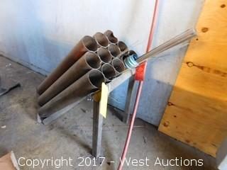 Welding Rod Stand With Rods