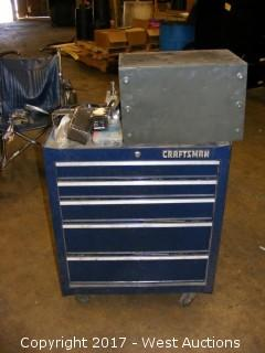 Craftsman Rolling Tool Chest Full of Bits and Taps