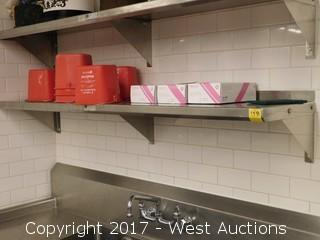 (1) 5' Stainless Steel Shelf with Contents