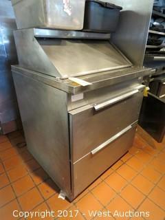 EcoLab Stainless Steel Refrigerated Salad Prep Refrigerator