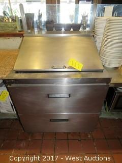Delfield D4432N-12M Mega Top Salad Prep Two Drawer Refrigerator