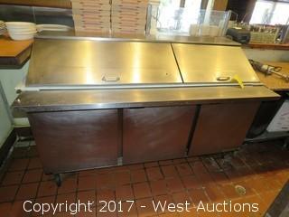 Beverage-Air SPE72-30M Refrigerated 3 Drawer Mega Top Sandwich Prep Table