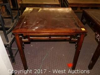 """(1) 33""""x37"""" Wide Wooden Table"""