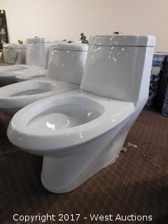 """(1) Porcelain Toilet, 28""""x14"""""""