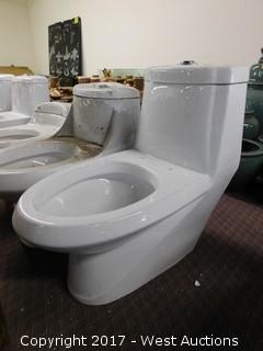"""(1) Porcelain Toilet, 28""""x15"""""""