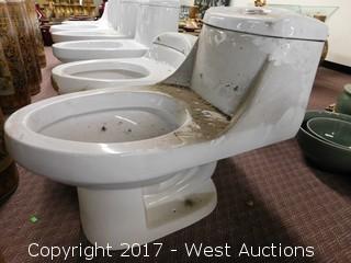 """(1) Porcelain Toilet, 24""""x13"""""""