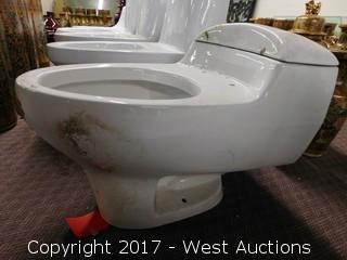 """(1) Porcelain Toilet, 19""""x14"""""""