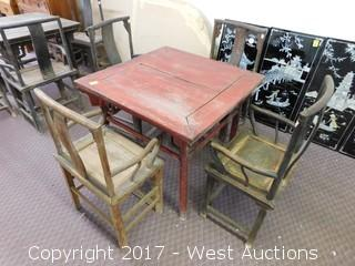 """5-Piece Table and Chairs, 33""""x37"""" Wide"""