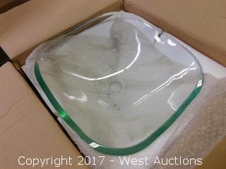 """(1) 17"""" Glass Sink Basin"""