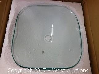 """(1) 16"""" Glass Sink Basin"""