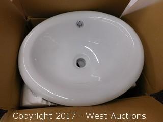 """(1) 17"""" Porcelain Sink Basin"""