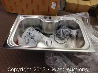 """19""""x34""""Wide Basin Sink with Hardware"""
