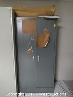 Devon Metal Cabinet with Electronic Contents 6' Tall