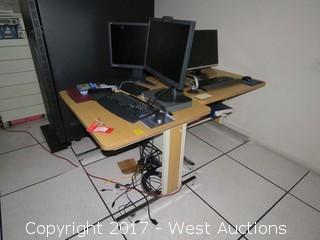 (2) Desks with Computer Parts